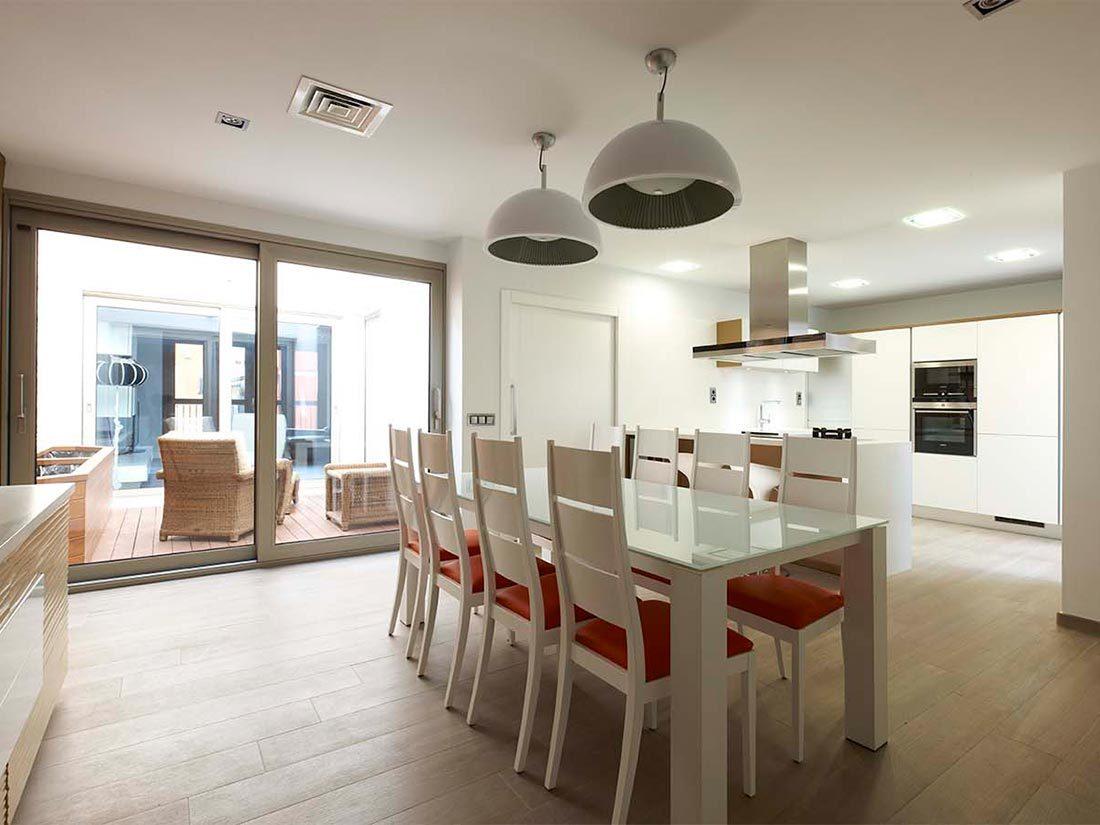 Carpintería interior en vivienda unifamiliar
