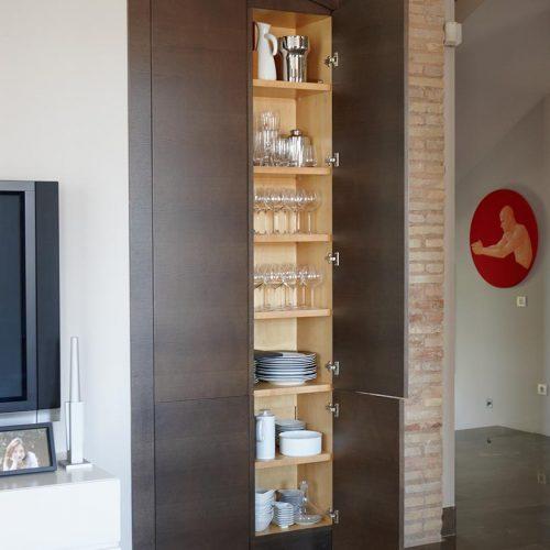 Interior armario de cocina funcional