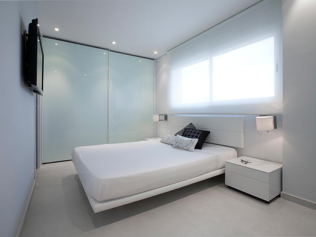 Dormitorio en reforma apartamento en el Perelló