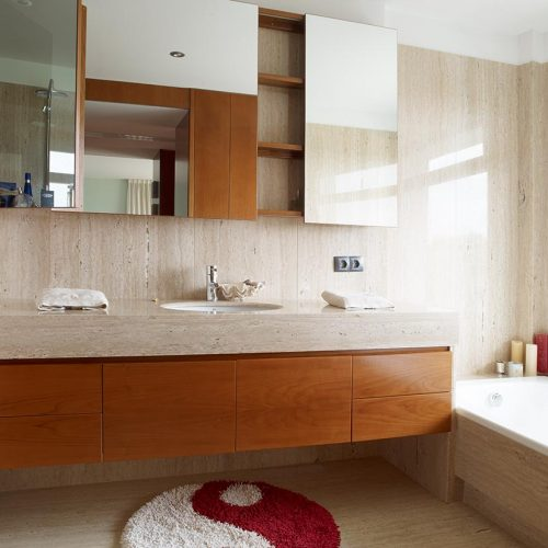 mueble de bano estanteria cerezo y cristal 1 p11
