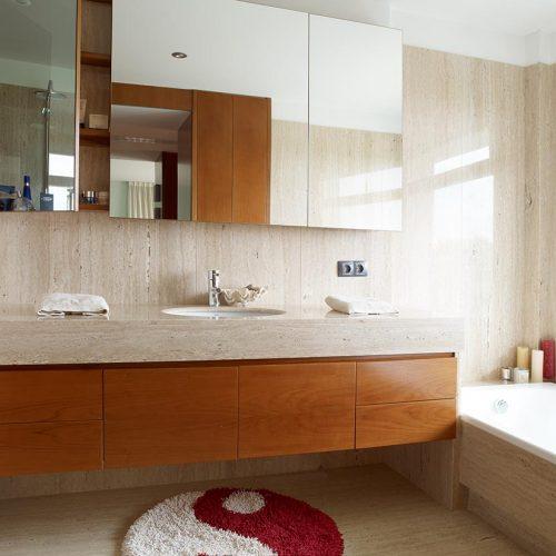 mueble de bano estanteria cerezo y cristal 2 p11