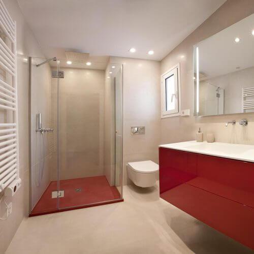 mueble de bano lacado rojo p12