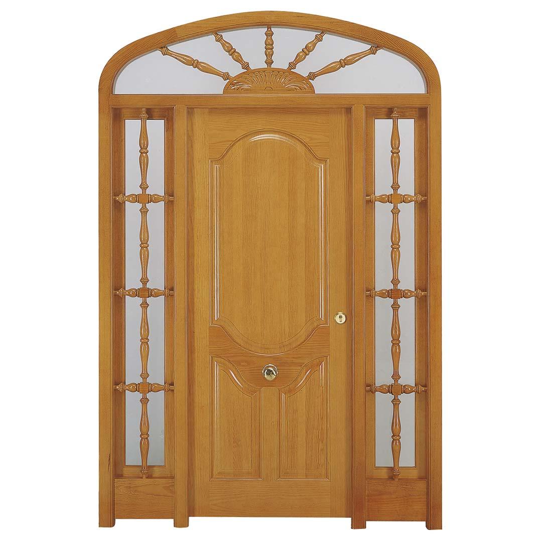 Puerta exterior de madera Anísclo