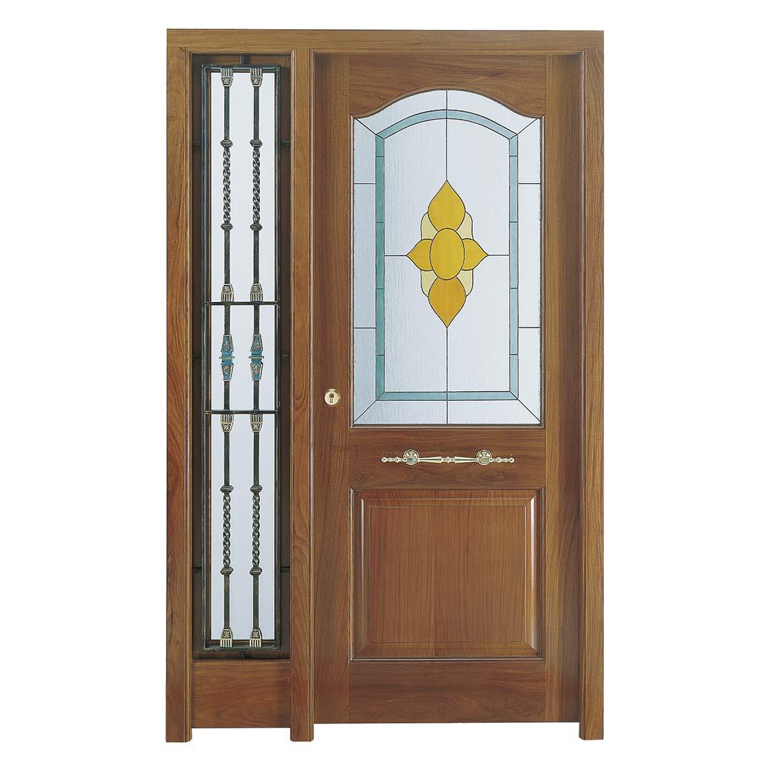 Puerta de entrada con vidriera Tiffany LARRA