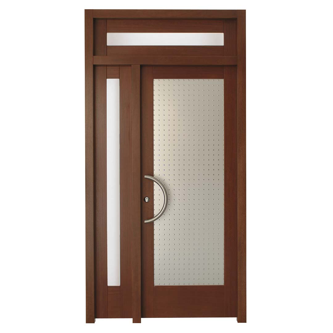 Puerta de entrada en madera modelo Gistaín