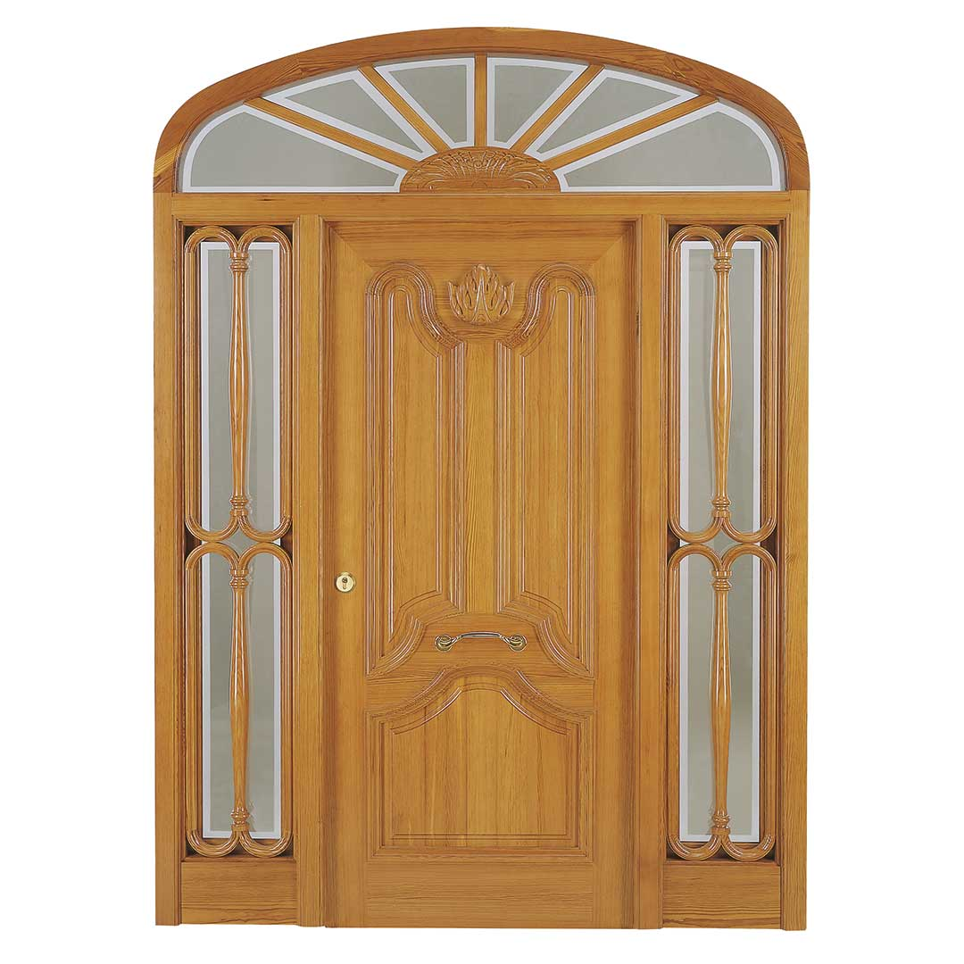 Puerta de madera exterior Aneto