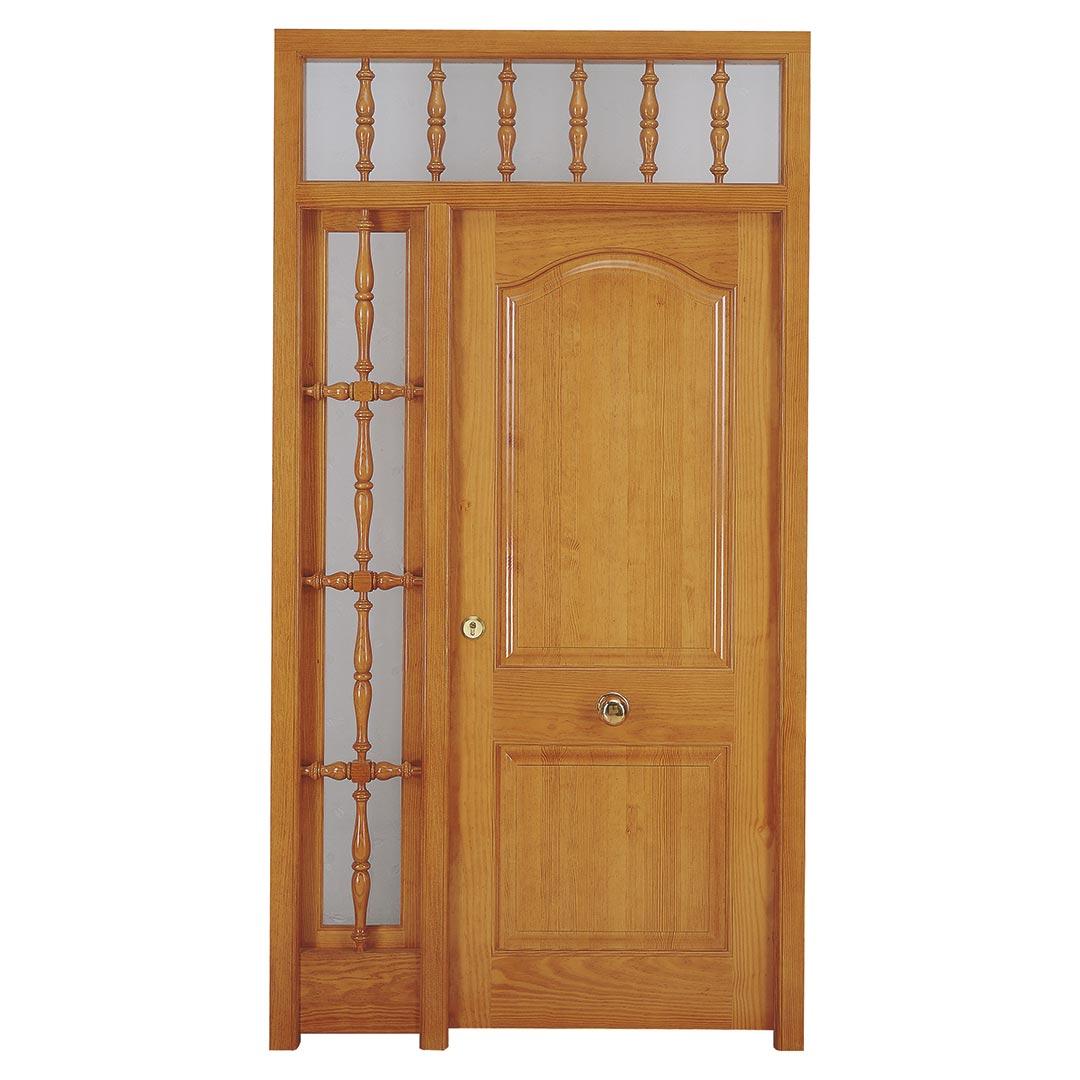 Puerta de madera maciza exterior Pino Melis Salenques
