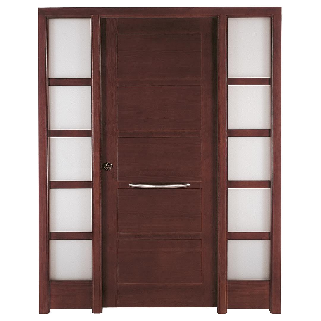 Puerta de exterior en madera de Iroko Salazar