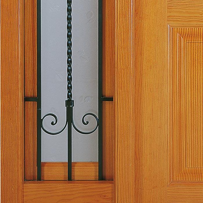 Detalle parte inferior puerta de entrada