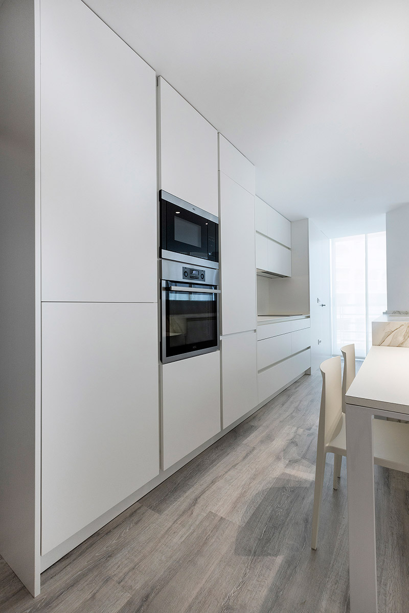 cocina completa lacada en blanco