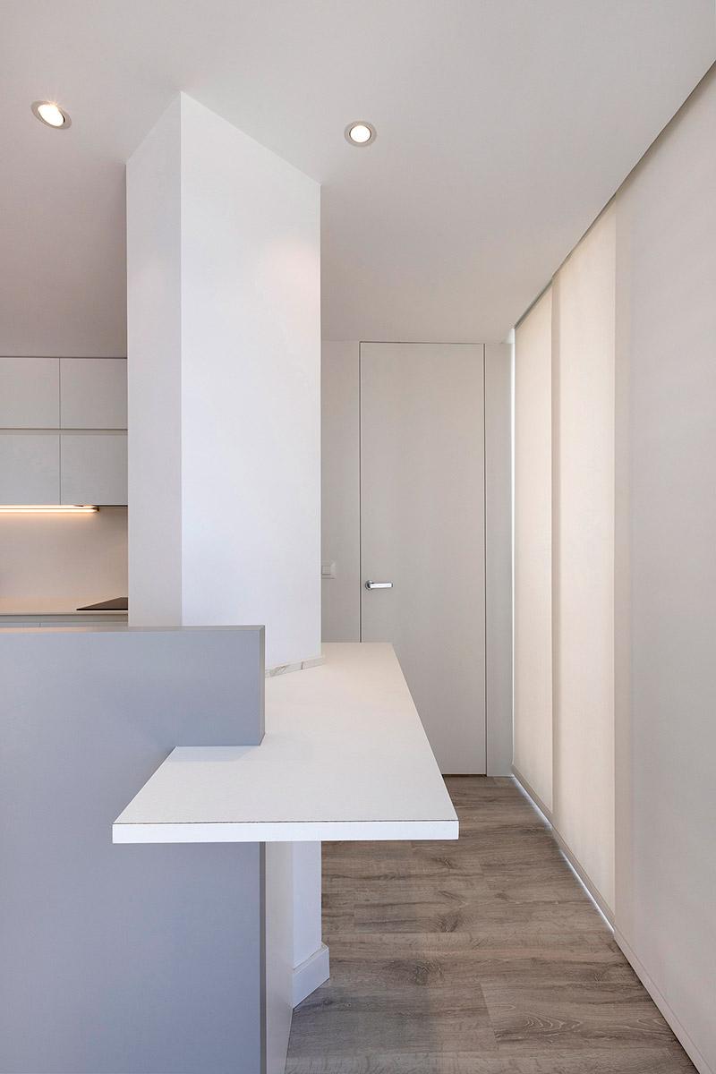 barra cocina blanco