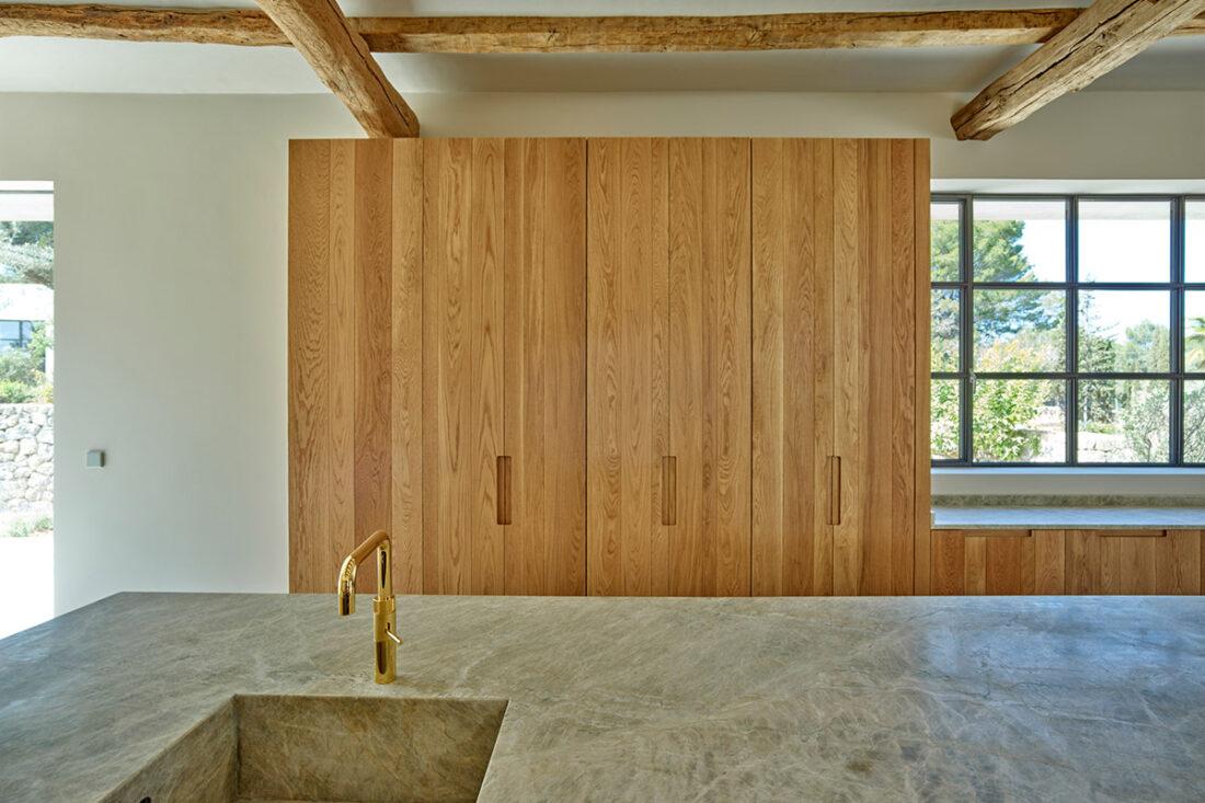 armario cocina roble natural